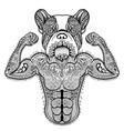Zentangle stylized strong French Bulldog like vector image