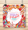Valentines poster template vector image