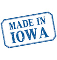 Iowa - made in blue vintage isolated label vector image
