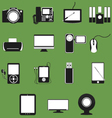 Electronic device flat icons set 1 vector image