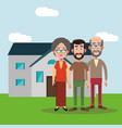 family members house image vector image