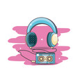 retro audio device cartoon vector image