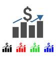 sales bar chart icon vector image