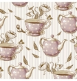 Seamless background with cups and pots vector image