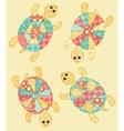 Set of turtles vector image