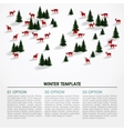 Christmas winter infographics background snowy vector image