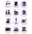 Household appliances for kitchen vector image vector image