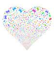 car fireworks heart vector image