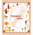 Cover of restaurant menu vector image vector image