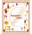 Cover of restaurant menu vector image