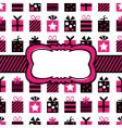 black and pink gift wrapping vector image