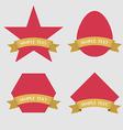 Set of Badge Ribbon and Labels vector image vector image