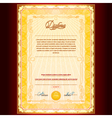 Royal Golden Diploma vector image
