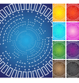 circle space technology background theme color set vector image