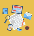 Concept of creative office workspace workplace vector image