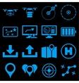 Drone control icon set vector image