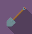 Flat design modern of shovel icon camping and vector image