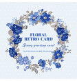 Floral Shabby Chic Card - vintage design vector image