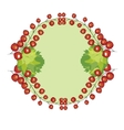 hand drawn berries currants label vector image