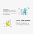 promote and target your customer marketing vector image