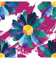 Seamless pattern with watercolor flowers vector image