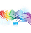 set great rainbow waves colorful gradient line vector image