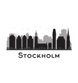 Stockholm silhouette vector image