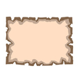 Parchment old paper Empty banner vector image