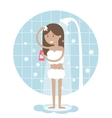 Woman Taking a Shower vector image