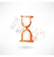 hourglass grunge icon vector image