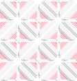 Diagonal layered frames and red lines pattern vector image vector image