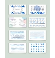 Hand drawn brush strokes card templates set vector image