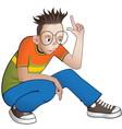 cartoon boy character vector image