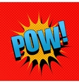 POW comic cartoon vector image