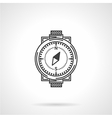 Black line icon for compass vector image