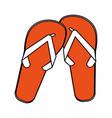 flip flops cartoon silhouette vector image