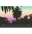 love this way geometric backgrounds palm tree vector image