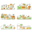 modern set of creative flat backgrounds vector image