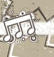 music grunge retro background vector image