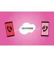 sex phone concept between two vector image