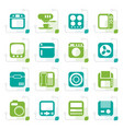 stylized home and office equipment icons vector image