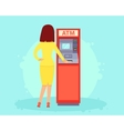 Withdrawing money from an ATM vector image