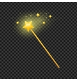 Golden Magic Wand with Star vector image vector image