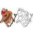 Cute Brown Bear Cartoon vector image vector image
