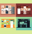 kitchen interior square composition vector image