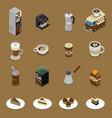coffee isometric set vector image