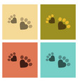 assembly flat icons cat tracks print vector image