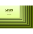 layers green text vector image vector image