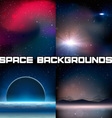 4 Space Backgrounds vector image