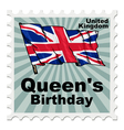 post stamp of national day of UK vector image